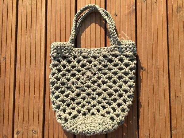 Horgolt hálós táska