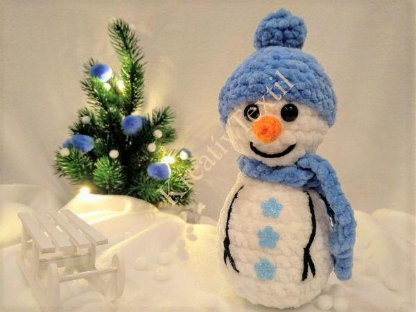 Horgolt hóember