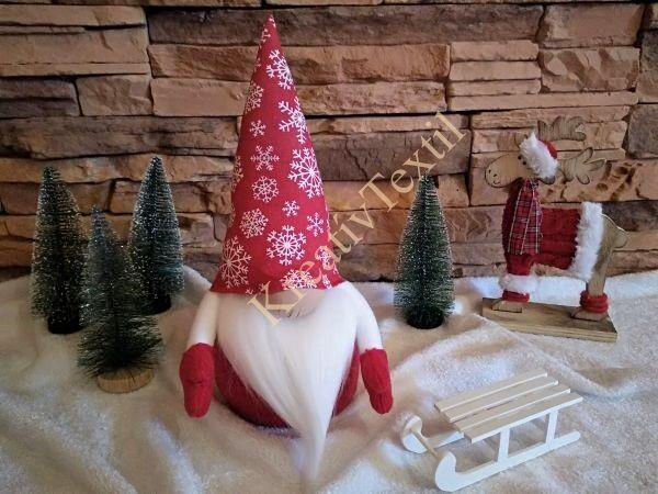 Hópelyhes karácsonyi manó fk