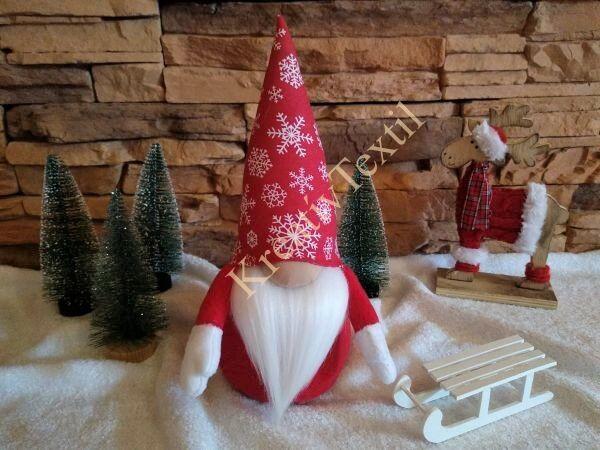 Hópelyhes karácsonyi manó pk