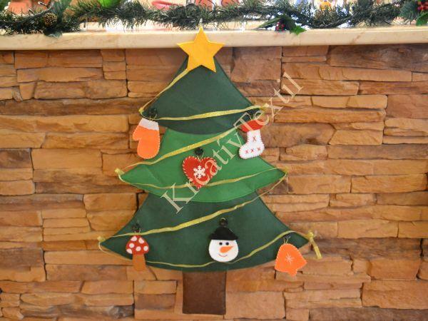 Díszíthető karácsonyfa filcből