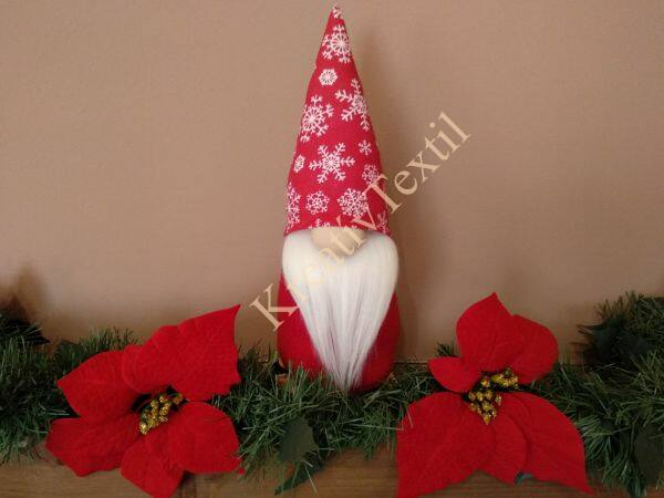Karácsonyi manó hópelyhes