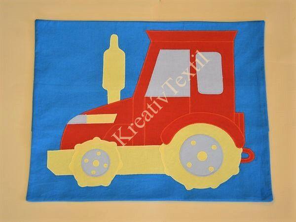 Traktoros párnahuzat