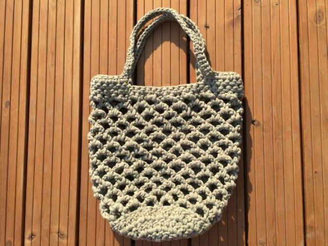 Image of Horgolt hálós táska